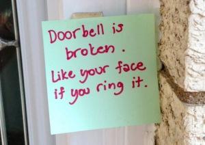 Doorbell-Note